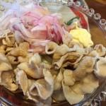 自作 ○○製麺の豚しゃぶぶかっけうどんを作りました
