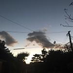 竜の雲を見た 縁起がいいね